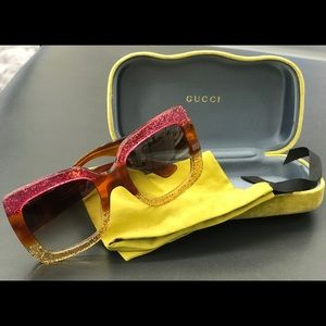 Gucci Pink - Gold Sunglasses